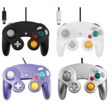 Manette filaire pour Nintendo GameCube et Wii (Noir, Violet, Blanc, Argent)